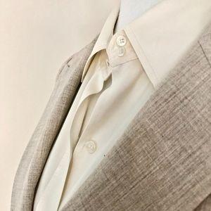 Silk Blouse Bodysuit, Cuff Long Sleeves, Ivory, S